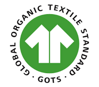 Logo label GOTS organic cotton