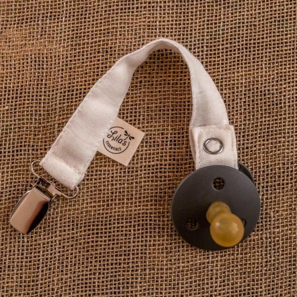 Pacifier holder Original Lila's Essentials organic GOTS cotton natural dye
