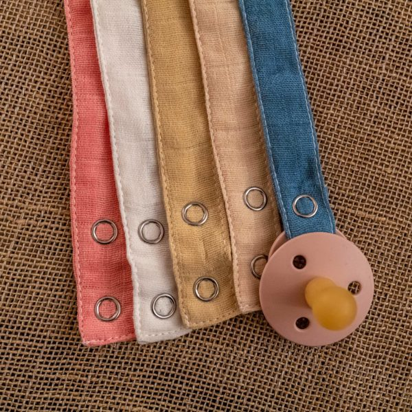 Pacifier holder Lila's Essentials organic GOTS cotton natural dye
