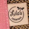 Pacifier holder Cherry Blossom Lila's Essentials organic GOTS cotton natural dye
